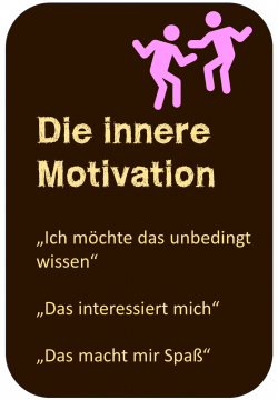 Lernmotivation Die innere Motivation