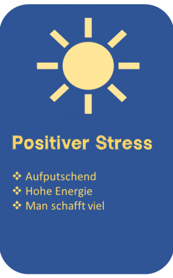 Schulstress Positiver Stress