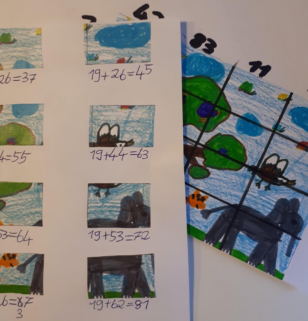 Trick 60 ✱ Flexibles Mathe – Lernspiel für jedes Alter: Bilderraster