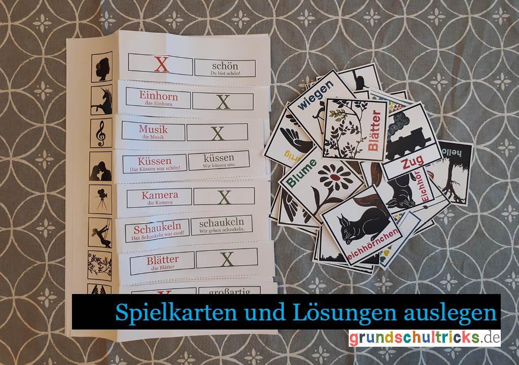 Memory Spiel zur Groß- und Kleinschreibung Deutsch Grundschule